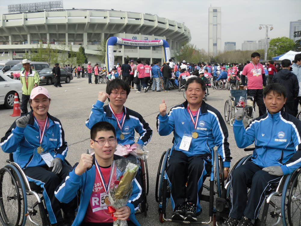 2010 서울국제휠체어마라톤대회 참가